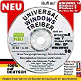 Windows PC & Laptop DRIVERS DVD Recovery|Restore|Install XP|Vista|7|8|10 / Recovery & Repair CD DVD für Windows 10 ® Windows 8 - Win 7 - Vista - XP 32 & 64 bit für TOSHIBA