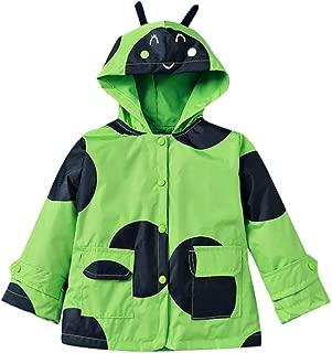 Waterproof Rainwear Windbreaker Hooded Raincoat Cute Long Sleeve Outwear Jacket for Boys and Girls
