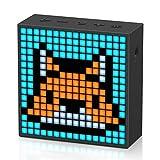 Divoom Timebox Evo ポータブル Bluetooth ピクセルアートスピーカー 256プログラム可能なLEDパネル付き 3.9 x 1.5 x 3.9インチ - ブラック