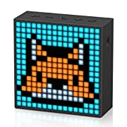 #LightningDeal Divoom Timebox Evo Portable Bluetooth Pixel Art Speaker with 256 Programmable LED Panel 3.9 x 1.5 x 3.9 inches - Black