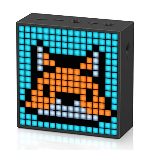 Divoom Timebox-Evo Pixel Art Tragbarer Bluetooth Lautsprecher mit Programmierbares 256 LED Panel, 3.9 x 1.5 x 3.9-Zoll