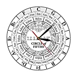 Xinxin Wall Clocks Circle of Fifths Musician Composer Music Teaching Aid Modern Hanging Wall Watch Musician Harmony Theory Music Study Wall Clock No Harm to The Environment and Health