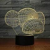 Forma de Mono de Dibujos Animados Cambio de Color Visual Creativo diversión Junto a la Cama lámpara de Mesa de luz Nocturna niños sueño iluminación Regalo
