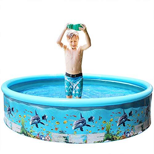 YUWEX Schwimmbecken 125 x125x 30cm aufblasbarer Swimmingpool Runden Planschbecken für Kinder Sommer-Sandspielzeug Outdoor Indoor