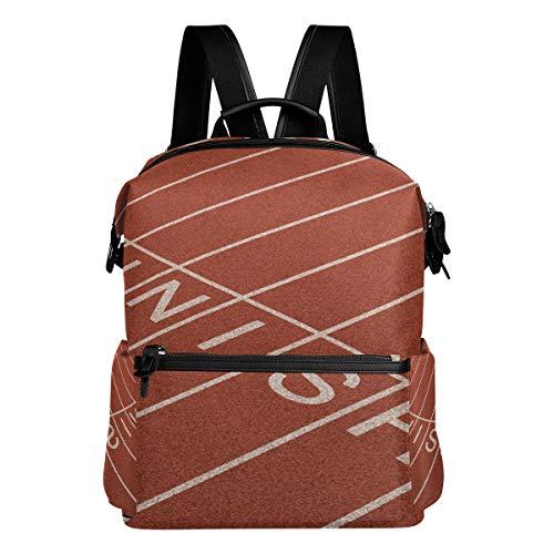 TIZORAX Ligne d'arrivée Track Field Sport Sacs de Sac à Dos d'école College Sac à Dos Bookbags pour Teen garçons Filles