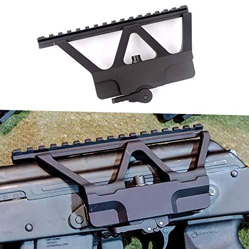 ACEXIER Quick Detach QD AK Pistolen-Seitenschienen-Zielfernrohrhalterung mit Picatinny-Seitenschienenhalterung Für AK 47 AK 74 Schwarz