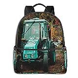 Mochilas Escolares Bolsa Daypack Mochila Tipo Casual para Niños Niñas para Portátiles Netbooks Tractor césped otoño Suelo