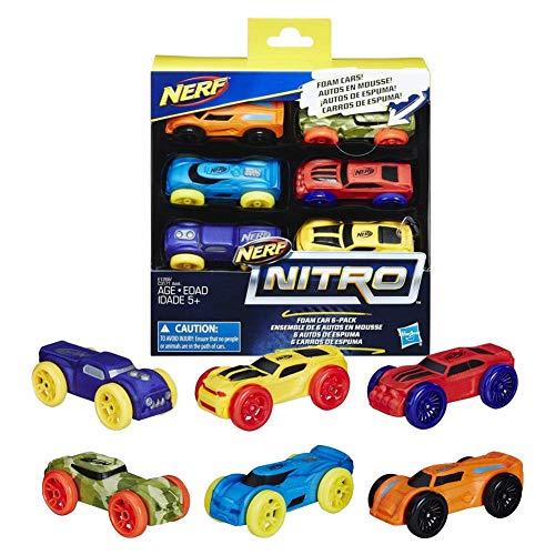 Nerf nitro foam cars - Kit di espansione per Nerf Blaster con 6 macchinine - Kamiustore