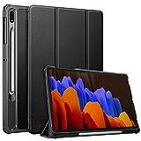 FINTIE SlimShell Funda para Samsung Galaxy Tab S7+ 12,4' con Soporte para S Pen - Carcasa Delgada y Ligera con Función de Auto-Reposo/Activación, Negro