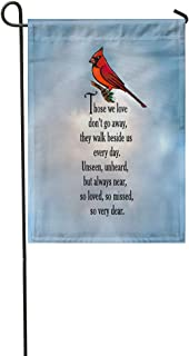 Suklly Garden Flag Cardinal So Loved Poem Drawing Fun Warm Pop Art 12x18 Inch Polyester Fabric Flags Home Decorative Sign Banner Suitable for Courtyard Outdoor Lawn
