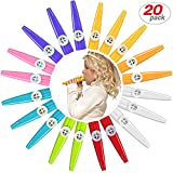 Best Kazoos - 20 Pack Plastic Kazoos Musical Instruments with 20pcs Review