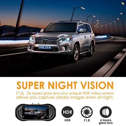 Vantrue X3 WiFi Dash Cam, Super HD 2.5K Car Dashboard Camera 1440P Car Camera with Ambarella A12 Chipset, 170° Wide Angle, Super HDR Night Vision, Loop Recording, Parking Mode, Motion Detection