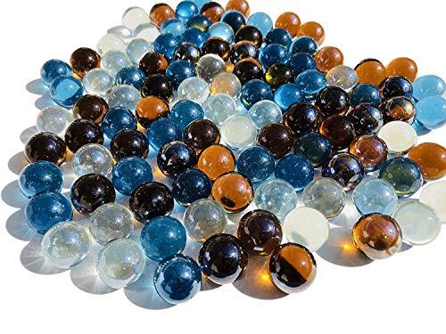 CRYSTAL KING Kleurrijke glazen bolletjes 16 mm diameter 500 g decoratieve ballen Murmel decoratie glazen bolletjes Murmeln kleurrijk