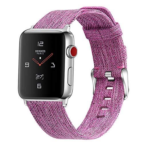 Correa de Reloj de Apple Watch, Correa de Reloj de Nailon Tejida Correa de Acero Inoxidable con Hebilla Pulsera Deportiva para iWatch Apple Watch Series Todos los Modelos,A,42mm/44mm