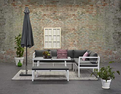 Garden Impressions Hohe Dining Aluminium Lounge Blakes White Rechts, inklusive XL Bank und wasserabweisender Kissen