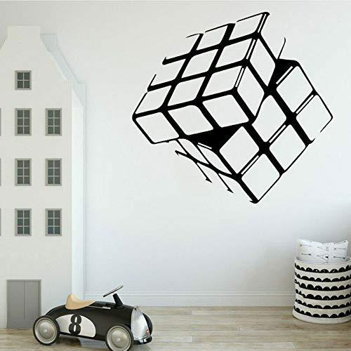 Etiqueta de la pared creativa del cubo de Rubik para sala de estar dormitorio de los niños vinilo decoración del hogar etiqueta de la pared 44 * 42 cm