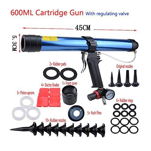 15 Zoll 600 ml Pneumatische Kartuschenpistole Pistole mit Kolben Glaskleber Air Rubber Guns Werkzeug Kartuschen Glas Silikon Werkzeuge