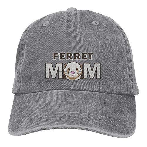 Allures Unisex lavado retro hurón fresco denim gorra de béisbol ajustable sombrero...