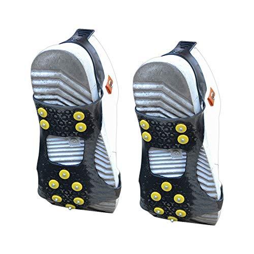 SONSYON Snow Shoes Grips - rutschfeste Winter Ice Grippers Snow Traction Cleats für 36-41 Schuhanzahl, Schwarz-M, M