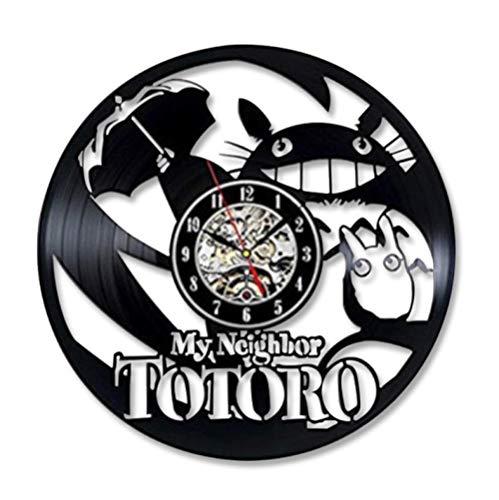 Wandklok Cartoon Mijn Buurman Vinyl Record Klokken Horloge Home Decor Voor Kinderen
