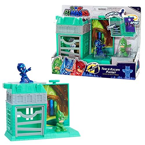 PJ Masks Nighttime Micros Trap & Escape Playset, Gekko vs. Night Ninja, by Just Play