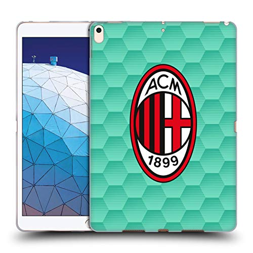 Head Case Designs Officially Licensed AC Milan Home Goalkeeper 2020/21 Crest Kit Soft Gel Case Compatible with Apple iPad Air (2019)
