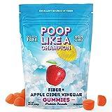 Poop Like A Champion ACV Gummies - Fiber Gummies for Adults, Apple Cider Vinegar Gummies Constipation Relief for Adults   Fiber Gummies for Kids Fiber Supplement   Ultra Fiber Supplements (1 Pack)