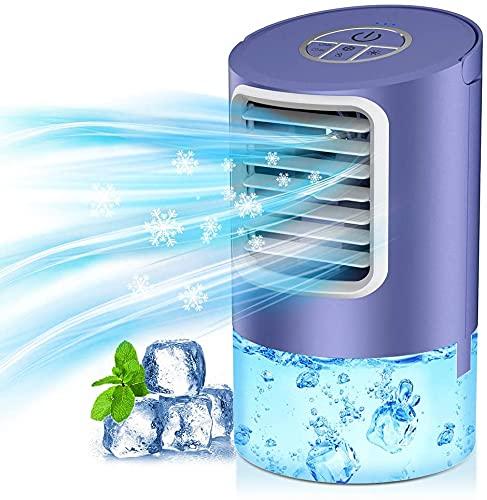 Portable Air Cooler Fan, 3 in 1- Desk Fan & Humidifier & Personal...