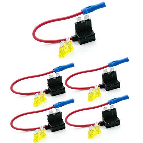 Qiorange Stromkreissicherungshahn, Standard-Klinge Ato Atc, Sicherungshalter-Box 12V 24V