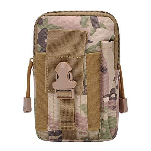 WINSTON-UK Camouflage Mehrzweck Hüfttasche Taktische EDC Pouch Utility Gadget Gürtel Hüfttasche für Sport Wandern Camping für Militärfans (Camouflage)