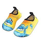 HMIYA Chaussures Aquatiques Enfants Filles Garçons Pieds Nus à séchage Rapide Chaussures d'eau pour Plage Piscine Surf Sport Aquatique(Jaunne 20 21)