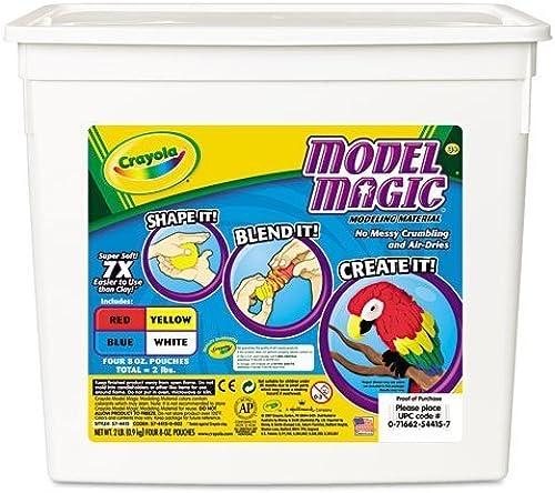 Model Magic Modeling Compound, 8 oz each bleu rouge blanc jaune, 2lbs by 5COU