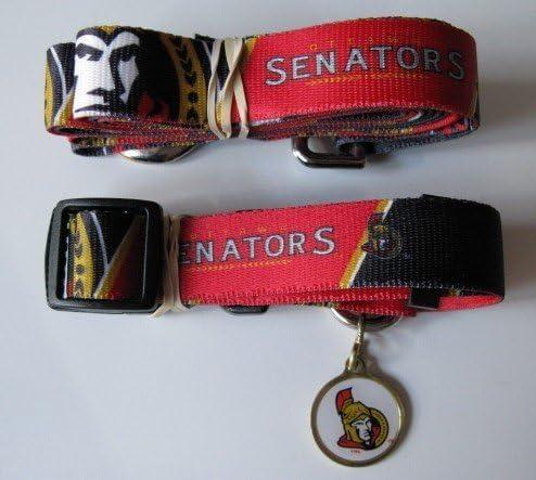 Ottawa Senators Pet Beauty products Accessories Set - supreme 6' Leash Collar Medium