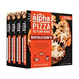 Alpha Foods Buffalo Chik'n Personal Pizza | 6 oz (Pack of 8) | 100% Plant-Based Protein | Dairy Free | Frozen Pizza | Vegan Meat Substitute