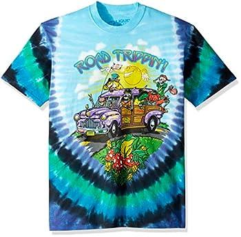 Liquid Blue unisex adult Road Trippin  Short Sleeve T-shirt T Shirt Tie Dye Medium US