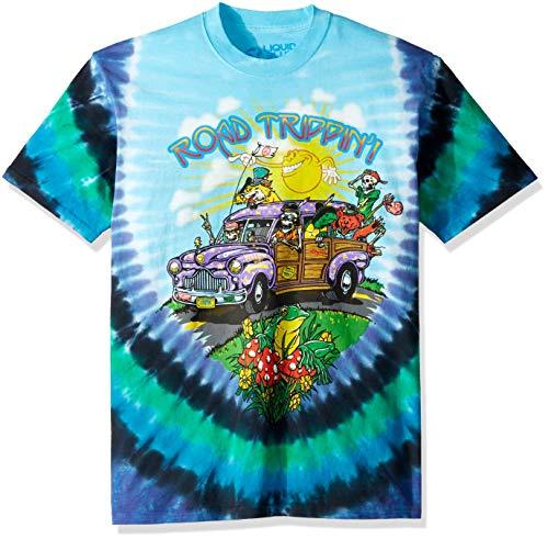Liquid Blue Unisex-Adult's Road Trippin' Short Sleeve T-Shirt, tie dye, XX-Large