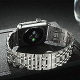 Sweatproof y duradero For Apple cadena de reloj de la correa de metal reloj de acero correa de la venda del reloj for Apple Serie 1 2 3Watchbands iWatch 38mm 42mm pulsera de la muñeca moda colocación