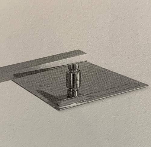 Soffione Super Slim Quadrato Acciaio Inox Braccio A Muro Varie Dimensioni CERAMICHEMIRANDA-20x20