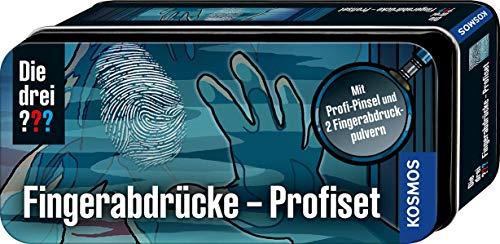 KOSMOS 632236 Die drei ??? Fingerabdrücke-Profiset, mit Profi-Pinsel und 2 Fingerabdruck-Pulvern, Detektiv Spielzeug Set für Kinder ab 8 Jahre, praktische Box für unterwegs