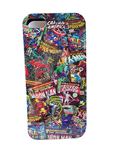 Carcasa para iPhone 5 y 5S, diseño de cómics, color negro