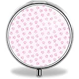 Personalizado personalizado de acero inoxidable de plata caso titular de la caja de la tarjeta de la cartera, rosa pata de perro impresiones