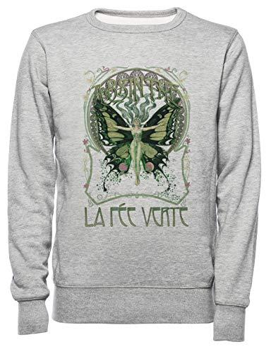 Absinthe Dames Mannen Unisex Sweatshirt Trui Grijs Women's Men's Unisex Sweatshirt Jumper Grey
