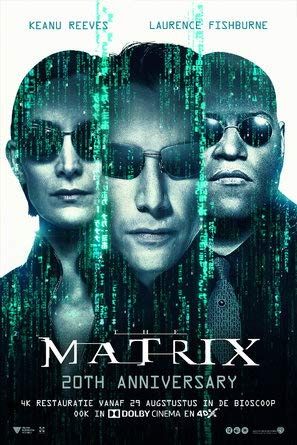 The Matrix - 20th Anniversary - Dutch Movie Wall Poster Print - 43cm x 61cm / 17 Inches x 24 Inches A2
