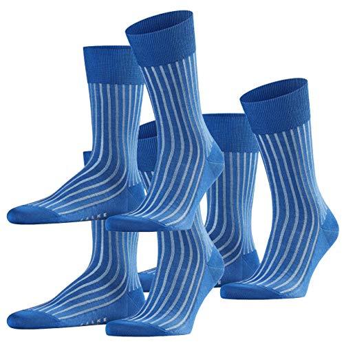FALKE City Herren Socken Shadow 3er Pack, Größe:41/42, Farbe:Paris Blue (6057)
