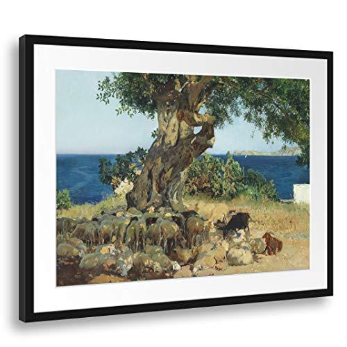 Printed Paintings Passepartout (80x60cm): Joaquín Sorolla - Algarroba