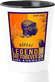 Athlete Shot Glass - Legend Are Forever - Los Angeles Bry-Ant Kobes Basketball Great Player Sports Coach 8 24 Fan Inspire ...