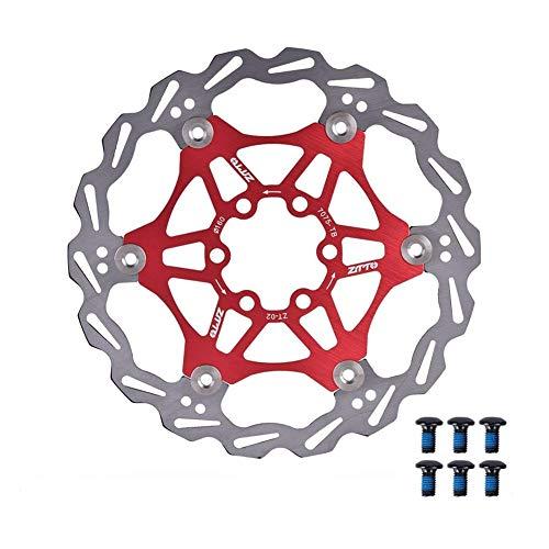 MEXITAL Rotor de Freno de Disco Flotante, 160 mm/180mm 6 Pernos, MTB Carretera Bicicleta Rotores Traseros Pernos Pastilla de Freno Ciclismo Accesorio