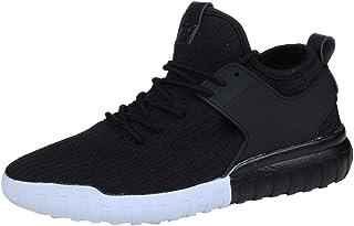ランニングシューズ スニーカー レディース メンズ ジョギングシューズ 運動靴 軽量 防水 通学靴 [春の屋] 女性のメンズ通気性のファッションカジュアルシューズ織ったスニーカーカップルの靴