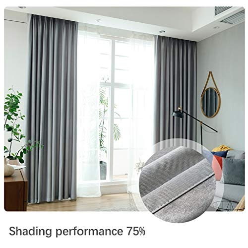 Xiao Jian- gordijnen verduisterend gordijn thermische geïsoleerde venster gordijnen voor slaapkamer woonkamer donker lawaai verminderen potlood Pleat Drapery 1 panelen