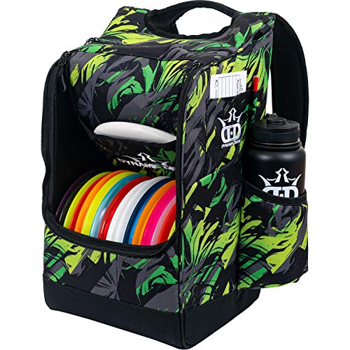 Dynamic Discs Sniper Disc Golf Backpack | 16 Disc Storage in Main Compartment | Deep Top Zippered Pocket to Hold Additional Disc Golf Accessories | Two Water Bottle Holders (Tropic)